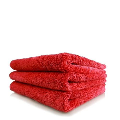 HAPPY ENDING EDGELESS MICROFIBER TOWEL, RED, 40CM X 40CM