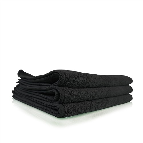 WORKHORSE BLACK PROFESSIONAL GRADE MICROFIBER TOWEL, 40CM X 40CM (RUBBER/PLASTIC/VINYL)