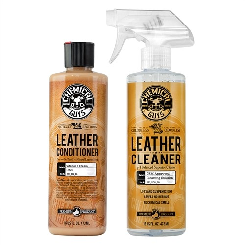 LEATHER CLEANER AND LEATHER CONDITIONER CARE KIT (2 ITEMS)