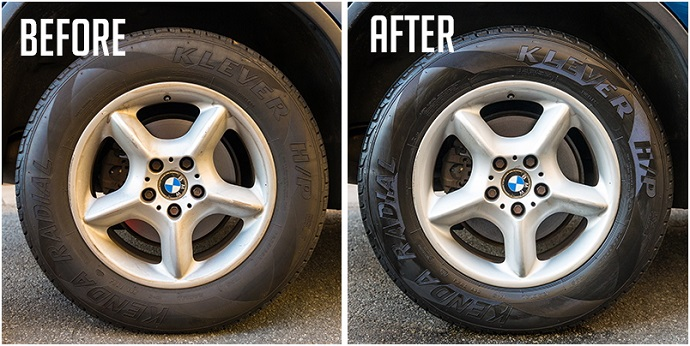 how to make tires shine