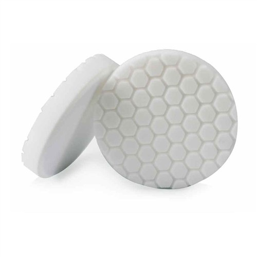 HEX-LOGIC LIGHT-MEDIUM POLISHING PAD, WHITE (4 INCH)