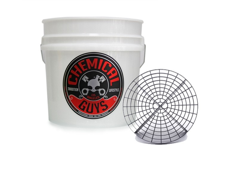 HEAVY DUTY DETAILING BUCKET 4.5 GALLON + GRIT GUARD
