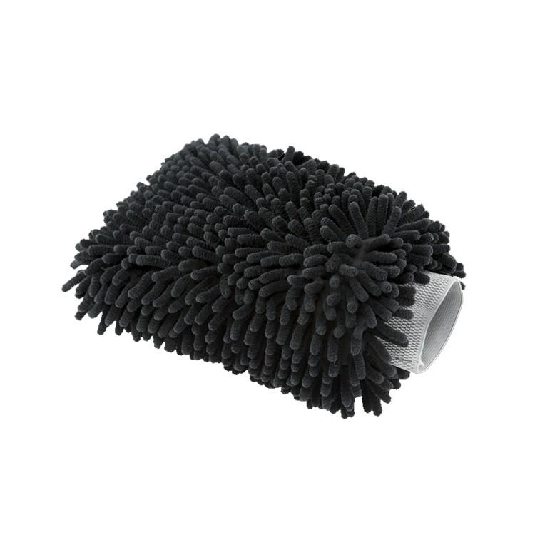 Chenille Black microfiber wahmitt