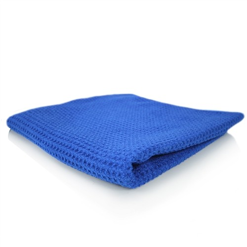 GLASS AND WINDOW WAFFLE WEAVE TOWEL, BLUE 70CM X 40CM