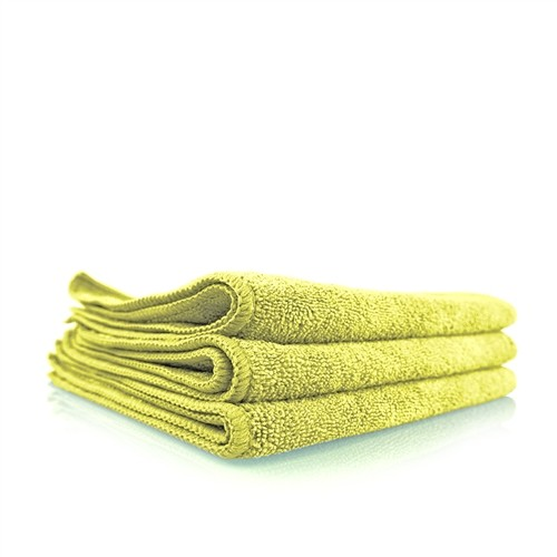 WORKHORSE YELLOW PROFESSIONAL GRADE MICROFIBER TOWEL, 40CM X 40CM (INTERIOR)