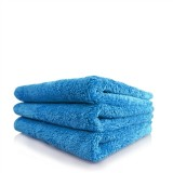 HAPPY ENDING EDGELESS MICROFIBER TOWEL, BLUE, 40CM X 40CM